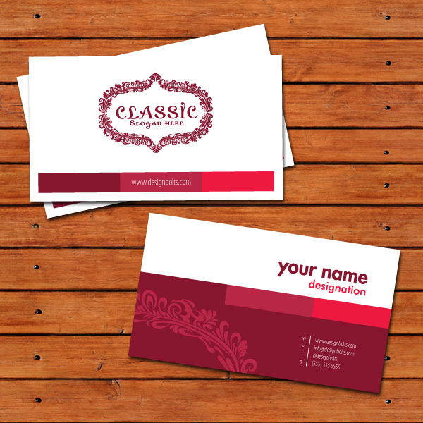 Beautiful Free Business Card Design Template In Vector Format Ai - Business card templates designs