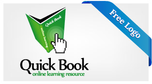 `Free-Vector-Quick-Book-Online-Learning--Logo-Download