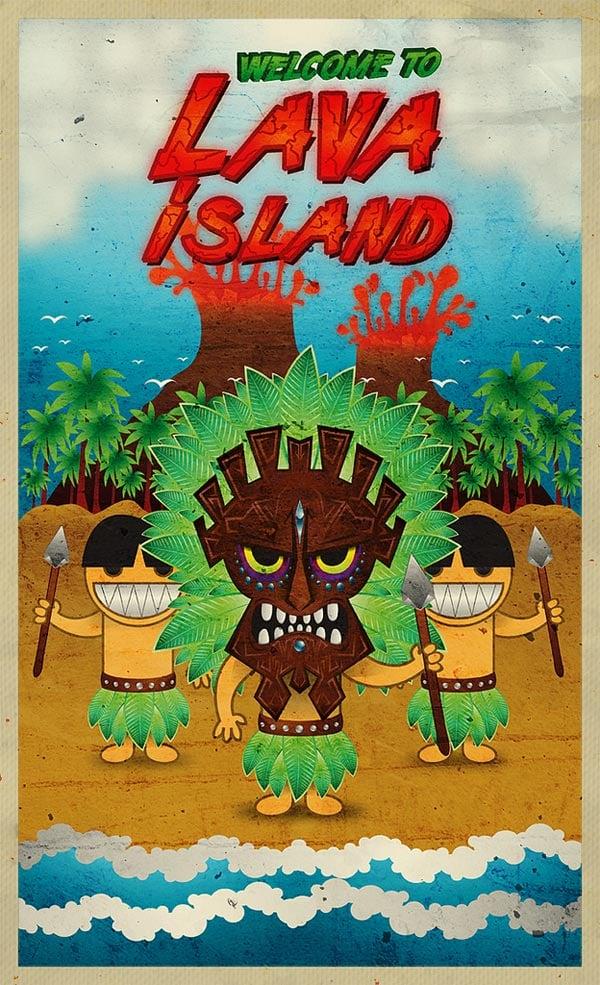 Lava-Island-Character-Illustrator-CS5-Tutorial