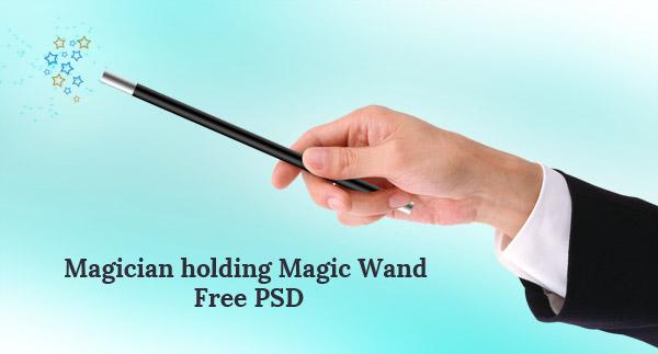 Magician-holding-magic-wand-free-psd