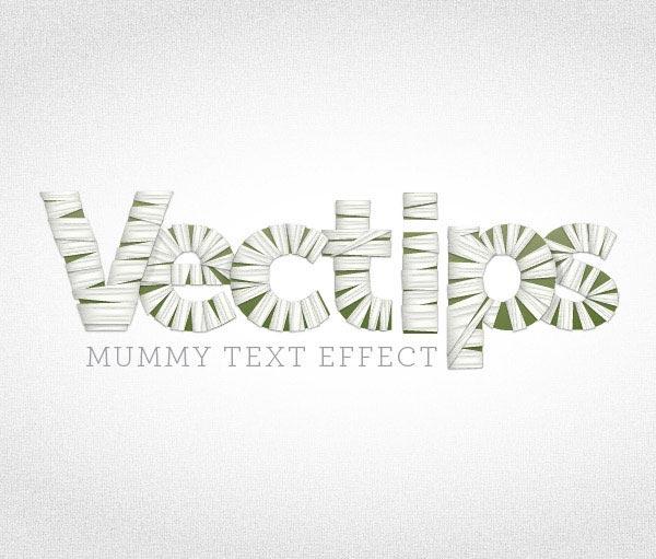Mummy-Text-Effects-Illustrator-tutorial