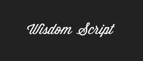 wisdom script best beautiful elegant free fonts download Top 25 Best & Beautiful Free Script Fonts Of 2012