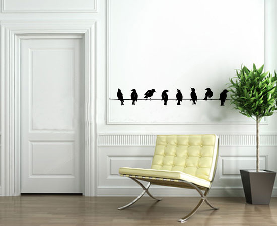 50 beautiful designs of wall stickers wall art decals Wall decor ideas