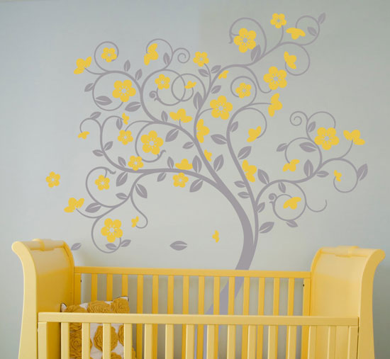 beautiful wall stickers wall art tree decals to - Wall Art Design Decals