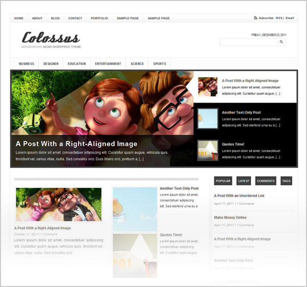 Best-Free-Premium-Colossus-magazine-wordpress-theme-for-2012