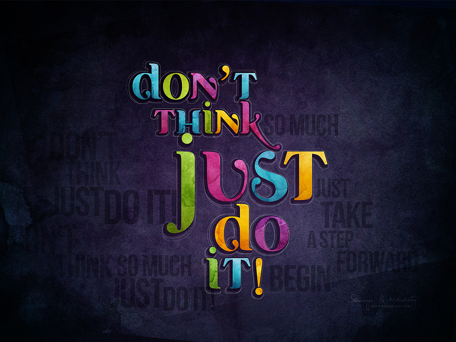Just Do It Typography Design Hd Wallpaper Desktop