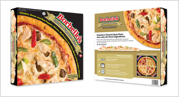 borbellos frozen pizza packaging design ideas