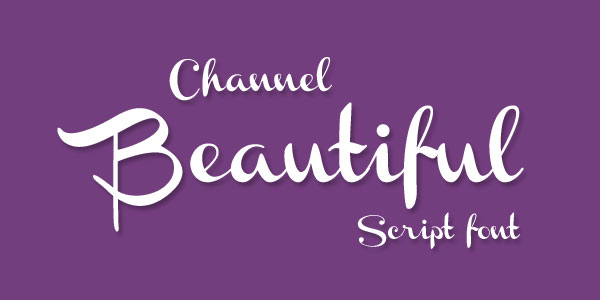 Channel Best Beautiful Free Script Font Top 25 Best & Beautiful Free Script Fonts Of 2012