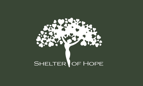 Cool-Creative-Shelter-of-hope-tree-Logo-Logotypes-Example