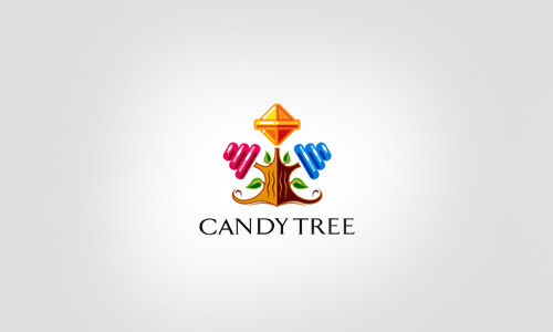 Cool-Creative-candy-tree-Logo-Logotypes-Example