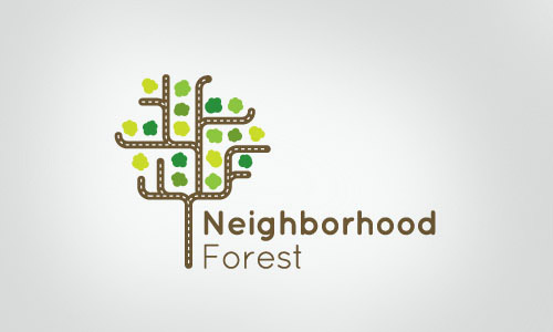 Cool-Creative-neighborhood-forest-Logo-Logotypes-Example