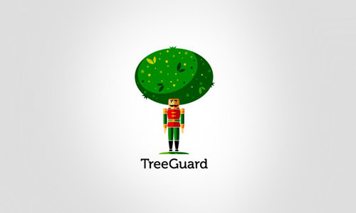 Cool-Creative-tree-guard-landscaping-Logo-Logotypes-Example