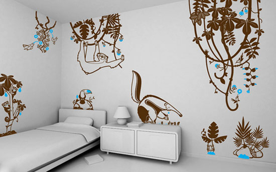 50 beautiful designs of wall stickers wall art decals Creative wall hangings