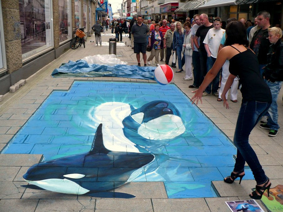 25 New Cool Creative 3d Street Art Paintings 2012