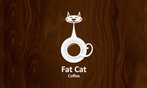 fat cat cool creative logo logotypes example