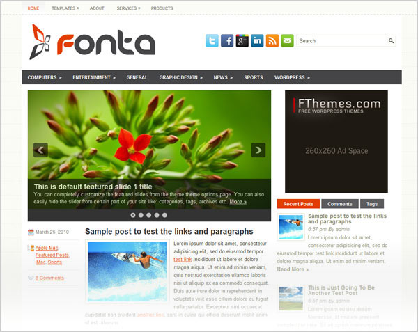 15 Best & Simple Free Premium Magazine WordPress Themes For 2012