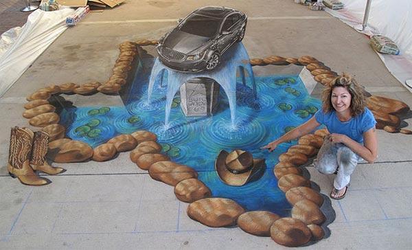 Fountain-3D-Street-Art-Painting