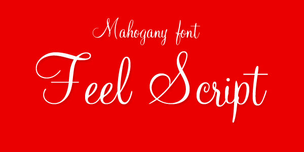 Free Mahogany Script Std Best Beautiful Free Script Font1 Top 25 Best & Beautiful Free Script Fonts Of 2012