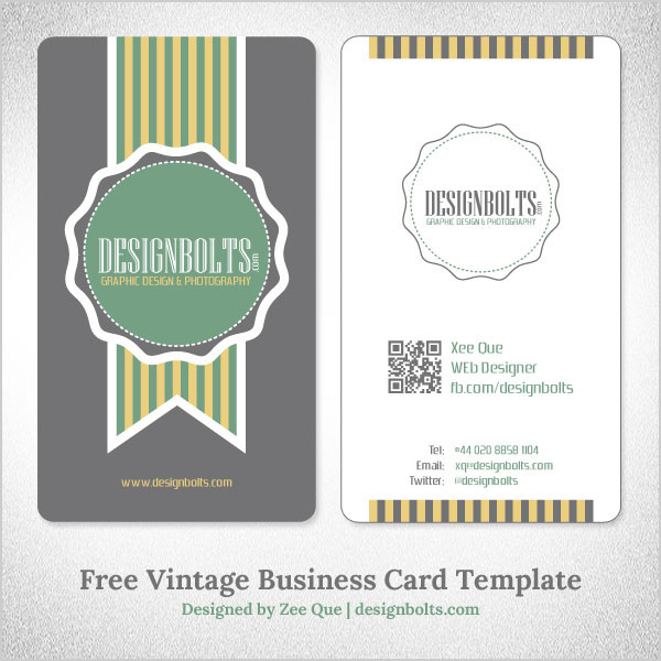 Free simple yet elegant vintage business card design template with for more free business card template wajeb Images