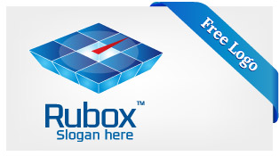 Free-Vector-Blue-Ruby-Web-Server-Box-Online-Learning-Logo-Download-F