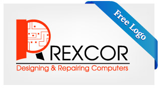 Free-Vector-Rexcor-Designing-Repairing-Computers-Logo-Download