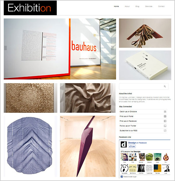 Free-exhibition-Portfolio-wordpress-theme-for-designers