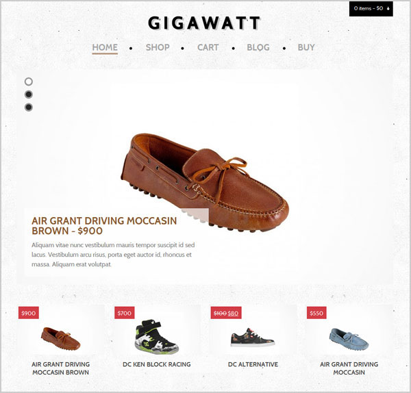 Gigawatt-eCommerce-Premium-WordPress-Theme-for-footwear