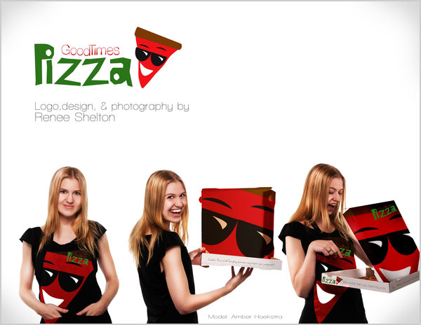Design Idea honey packaging design idea Good Times Pizza Design Idea