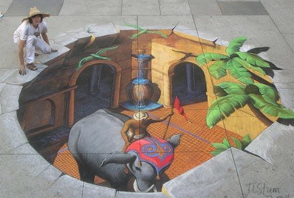 Indian-Fantasy-3D-Street-Art-Painting