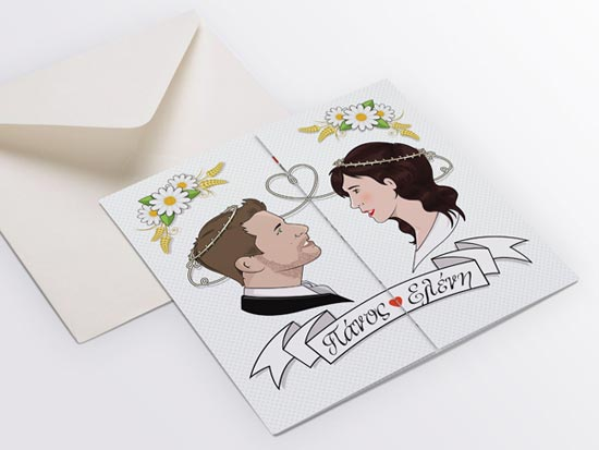 invitation wedding postcards design ideas 2 - Postcard Design Ideas