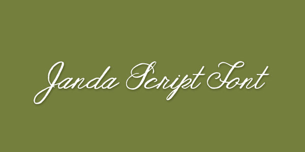 Janda Best Beautiful Free Script Font Top 25 Best & Beautiful Free Script Fonts Of 2012