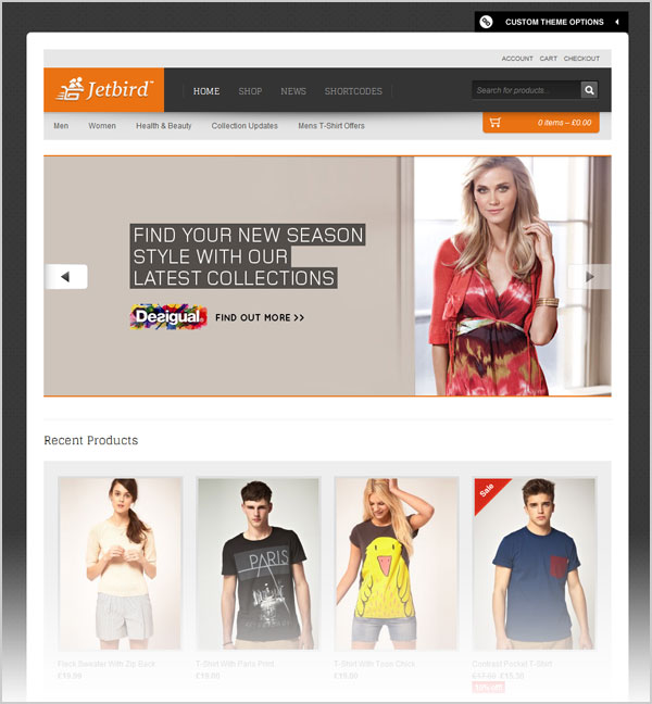 20 best free premium ecommerce wordpress themes for for Wordpress t shirt store theme free