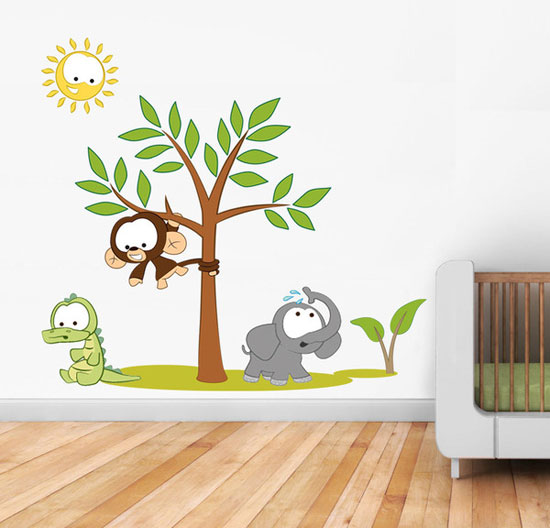 50 beautiful designs of wall stickers wall art decals Kids room wall painting design