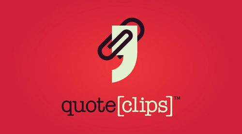 Quote-clip-Cool-Creative-Logo-Logotypes-Example