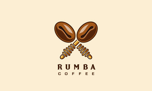 Rumba-Coffee-Cool-Creative-Logo-Logotypes-Example