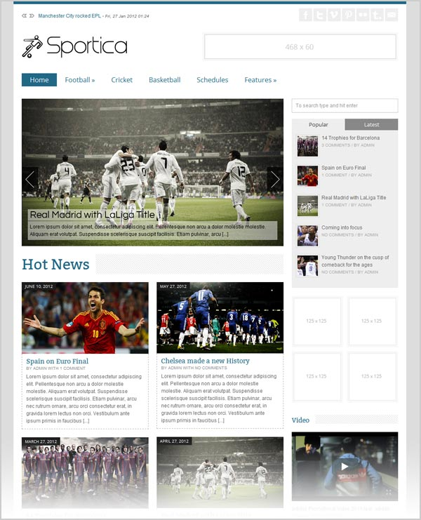 Sportica-premium-responsive-Magazine-wordpress-theme