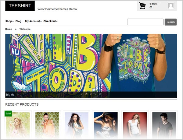Teeshirt-eCommerce-Premium-WordPress-Theme-for-footwear