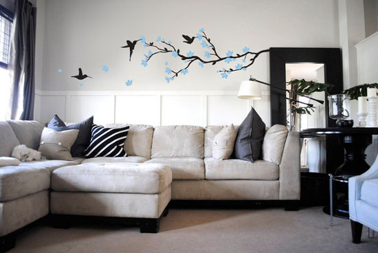 Tree Branch Birds Decorative Wall Stickers For Bedrooms