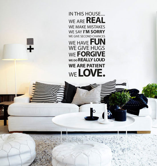 50+ Beautiful Designs Of Wall Stickers / Wall Art Decals To Decor ...