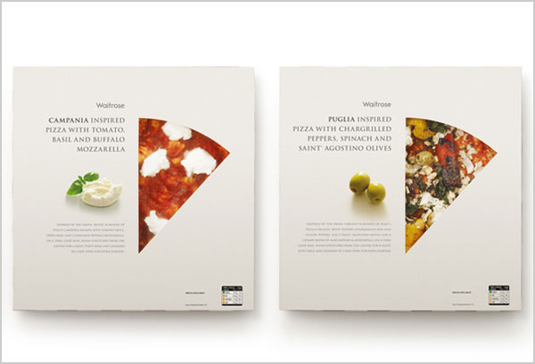 waitrose cutout pizza packaging design