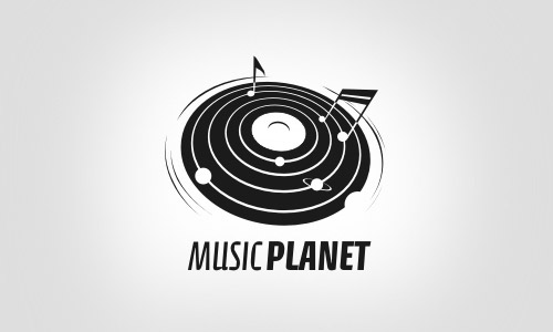 music_planet-Cool-Creative-Logo-Logotypes-Idea
