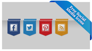 18-Free-Ribbon-Social-Media-Icons