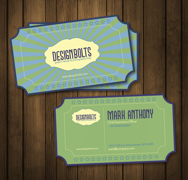 beautiful free retro business card design template vector