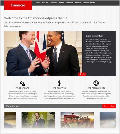 20+ Best & Professional Free Corporate Business WordPress Themes of 2012