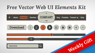 Fee-Vector-Simple-Web-UI-Elements-Kit-&-social-media-icons-F