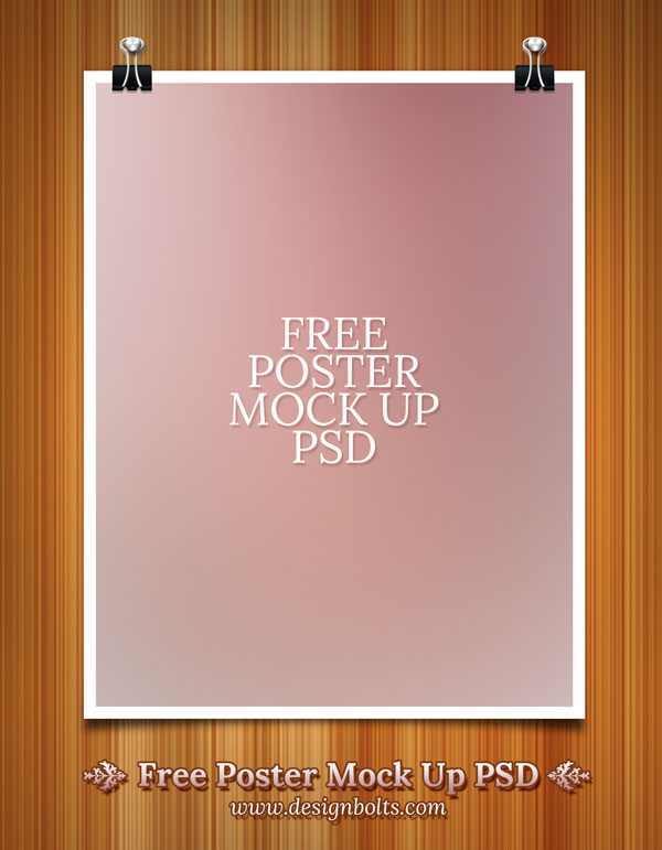 Free poster mock up psd template for Free poster design templates