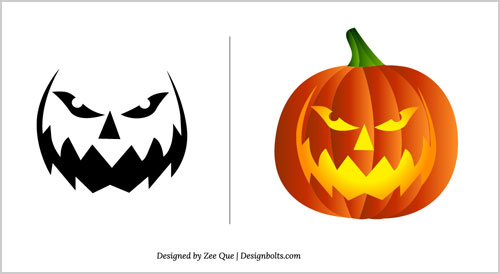 Free Halloween Pumpkin Carving Patterns 2012 | 15 Scary Stencils ...