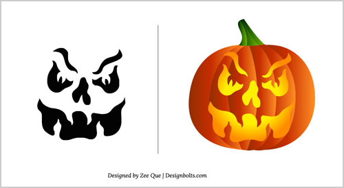 Halloween-2012-Pumpkin-Carving-Patterns-15-Scary-Stencils-Template