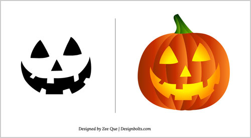 Free Halloween Pumpkin Carving Patterns 2012 | 15 Scary Stencils