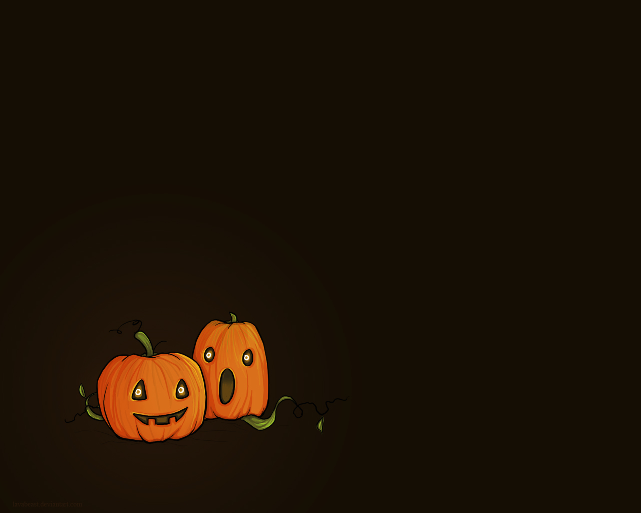 Happy Halloween 2012 New Pumpkins HD Wallpaper